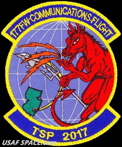 USAF 177th FIGHTER WING - COMMUNICATIONS FLIGHT - TSP 2017 -OSAN AB-  VEL PATCH