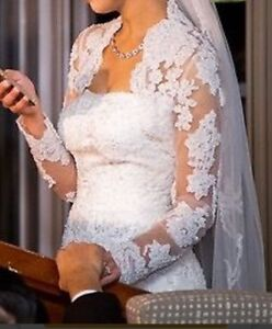 Gorgeous Tulle and Lace Trumpet wedding dress