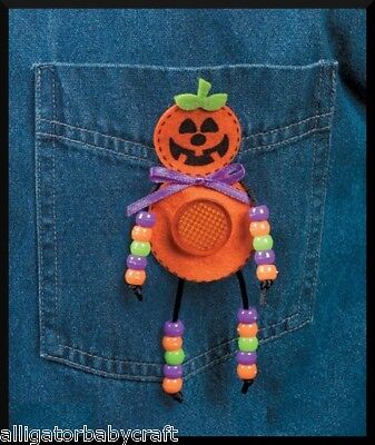 Halloween Reflector Pumpkin Pin Bead Craft Kit ABCraft](Halloween Pins Craft)