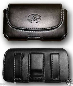 Leather Case Pouch Holster for Straight Talk/ Net10 Samsung R451c, Samsung C3530