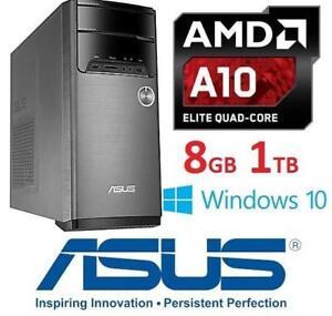 REFURB ASUS DESKTOP COMPUTER PC M32BF-RS1-CB 144137566 AMD A10 7800 8GB MEMORY 1TB HDD WINDOWS 10 OS DESKTOP