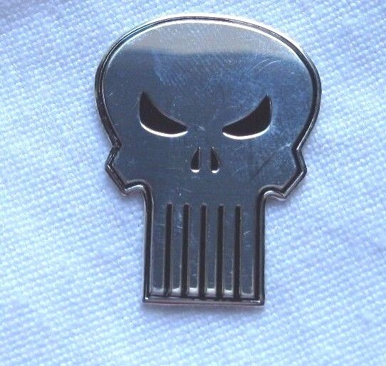 The Punisher Skull Chrome Metal Sticker/Decal New Sniper Skull Hardcore