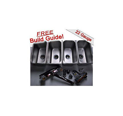 Standard 3 Compartment Sink Set Hand Washing For Concession Stand Food Trailer