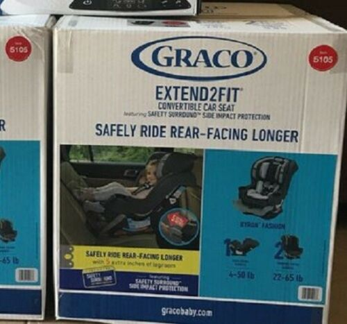 Graco Extend2Fit Convertible Car Seat, Gotham, Brand New