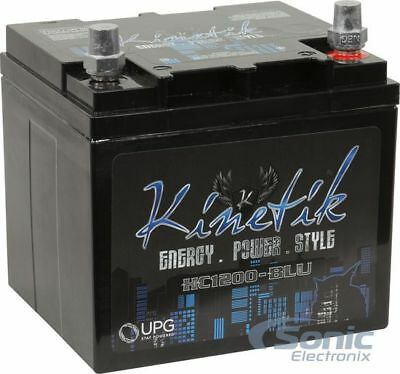 KINTEIK 1200W HC1200 High Current AGM Car Audio Power Cell/Battery | HC1200-BLU