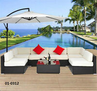 Outdoor Rattan Patio Furniture - 7, 8, 9 or 11 pc Sets -TAX INCL