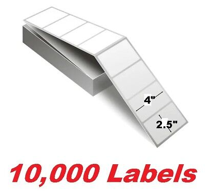 Thermal Printer Transfer Paper Tt Fanfold 4 X 2.5 Case Of 10000