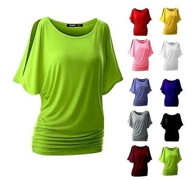 Hot Summer Women off shoulder Loose T-shirt Oversized Lady Blouse Tank (Top Hot Ladies)