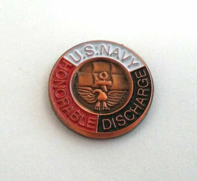US NAVY HONORABLE DISCHARGE (SMALL MINI)  Military Vet US NAVY Hat Pin P15677 EE