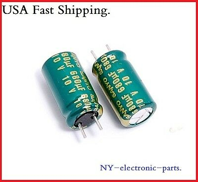 16pcs 680uf 10v Sanyo Radial Electrolytic Capacitors.8x15mm.wx