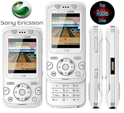 Sony Ericsson F305 White (Ohne Simlock) 2,0MP Motion Gaming 3D-Spiele GUT OVP comprar usado  Enviando para Brazil