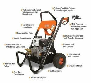 New Stihl RB400 Gas Powered Pressure Washer