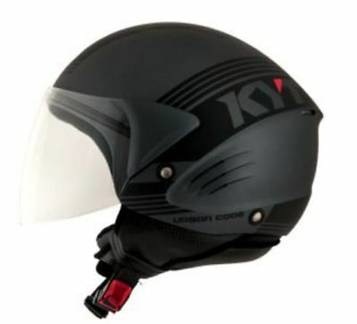 CASCO scooter DEMI JET KYT by Suomy COUGAR URBAN CODE Antracite/nero varie Tg