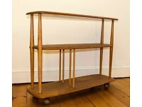 Fully refurbished Classic Ercol Windsor Trolley Bookcase Mid-Century Modern Retro Multifunctional