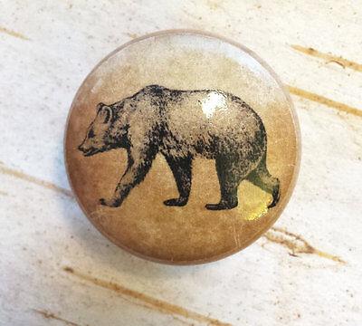 Bear Birch Knob, Handmade Drawer Pull, 1.5