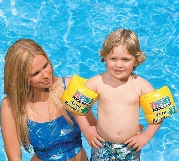 INTEX POOL SCHOOL KIDS SWIMMING POOL ARM BANDS LEARNING AIDS CHILDRENS ARMBANDS