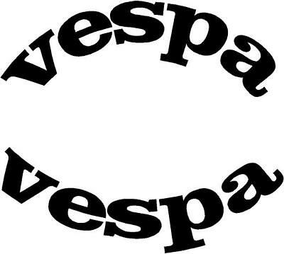 vespa roundel wheel arch fly screen scooter car campervan sticker 80 x 23mm