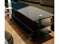 Excellent 3 Level Black Glass TV Stand