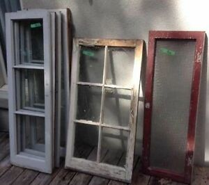Solid wood windows - Vintage & Antique - approx 15  left