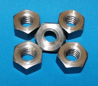 304014-nut-lh 12-10 Acme Hex Nut Left Hand Steel 5 Pack For Acme Threaded Rod