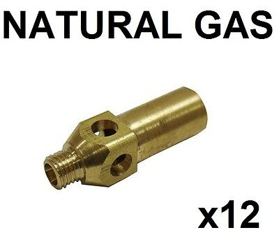 Pack Of 12 Replacement Natural Gas Jet Nozzle Tips For Jet Burner Burners
