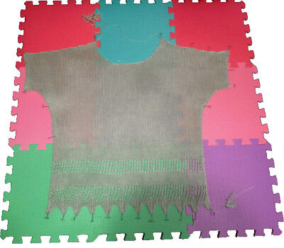 18 Piece Eva Soft Foam Blocking Mat Mixed Pastel Colours Crochet Knitting