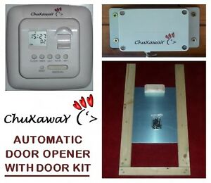 Chuxaway SC Automatic Chicken Door Opener Kit with Timer & ALUMINIUM DOOR
