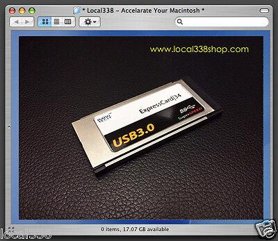 "2 Port USB 3.0 Upgrade For Apple MacBook Pro 15""/17"" ** ExpressCard 34 Adapter"