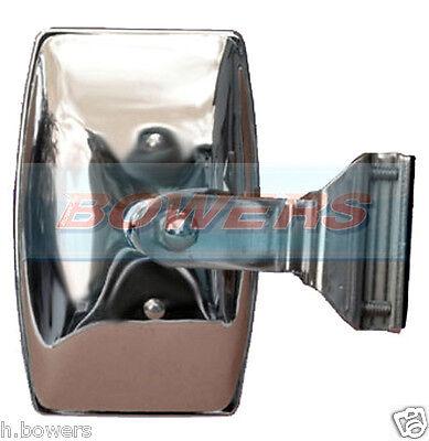 RECTANGULAR CLAMP ON STAINLESS STEEL PEEP OVERTAKING QUARTER LIGHT DOOR MIRROR