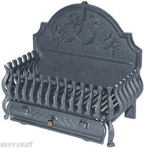 Cast Iron Fire Basket Dog Grate Fireplace Fire Grate Fire ...