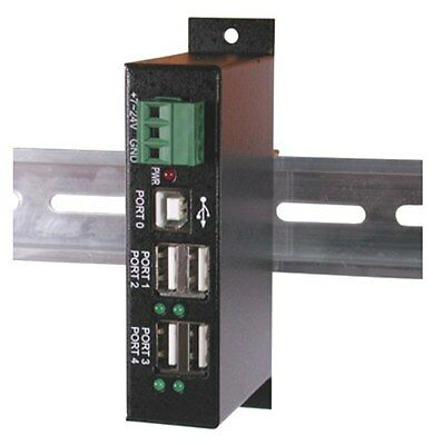 4-Port USB2.0 Hub w/ DIN RAIL Mounting Kit ()