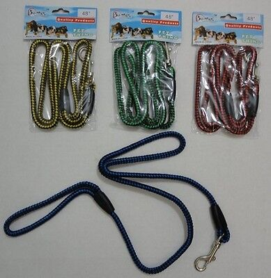 "12 BRAND NEW 48""  ROPE DOG LEASHES,  WHOLESALE PET SUPPLIES, FREE SHIPPING !!!!"