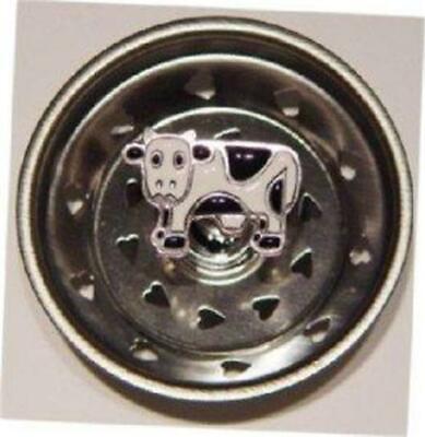 7125 Black White Cow Farm Kitchen Sink Strainer Stopper Billy Joe Homewares NIB (Billy Joe Sink Strainers)