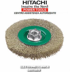 SPAZZOLA-CIRCOLARE-D-115-ATTACCO-M14-CON-FILO-ONDULATO-LUCIDARE-METALLI-HITACHI