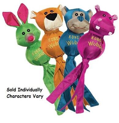Ballistic Friend Wubba Dog Toy Bright Tennis Ball Tail Characters Vary Pick Size ()