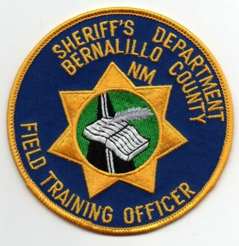 NEW MEXICO NM BERNALILLO COUNTY SHERIFF FIELD TRAINING OFFICER NICE PATCH POLICE