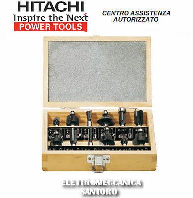 SET 12 PZ DI FRESE DA LEGNO HITACHI PER FRESATRICI CON GAMBO DA 8 mm