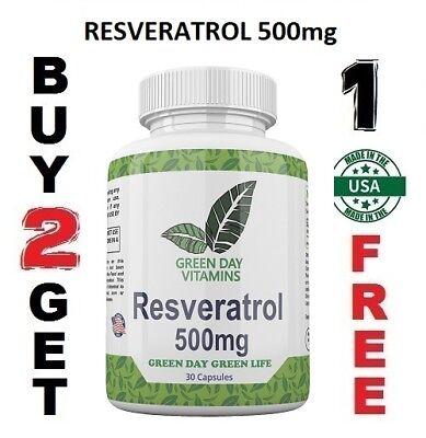 Resveratrol 500MG Polygonum Cuspidatum Anti Aging Made USA Free shipping