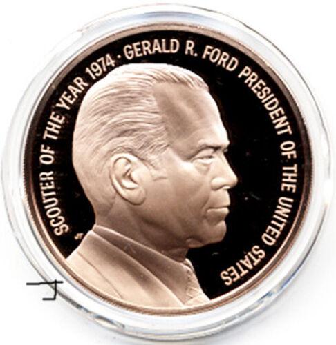 BSA Scouter U.S. President Gerald R. Ford Eagle Boy Scout Bronze Proof Medal