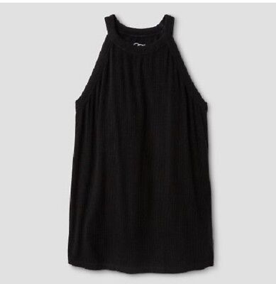 Girls' Ribbed Scoop-Neck Knit Tank Top by Art Class Black XL 14/16 NWT ()