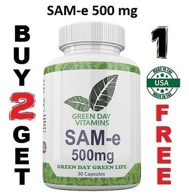 SAM-e Nervous System Mood & Joint Support Maximum Strength 500mg SAM-e USA SAMe