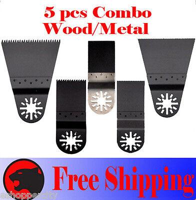 5 Pc Oscillating Multitool Saw For Blade Ridgid Ryobi Milwaukee Makita Craftsman