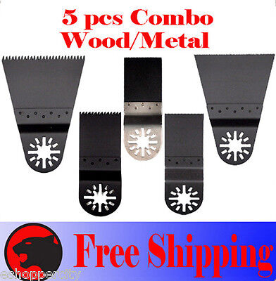 5 Pc Oscillating Multitool Saw For Blade Chicago Bosch Multi-x Performax Einhell
