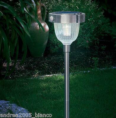 Lampione a energia solare lampioncino da giardino a led luce lampada per esterno