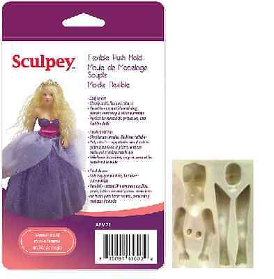 Sculpey Flexible Push Mold WOMAN or MERMAID DOLL Polymer Clay