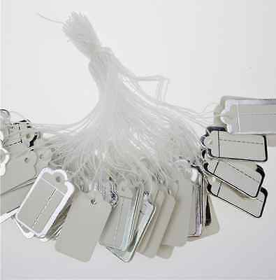 200 Pcs Blank Silver Edge Labels Jewelry Strung Pricing Price Tags