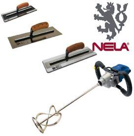 DRAPER MIXING DRILL 110V & NELA SUPERFLEX2 GOLD, PREMIUM & PLASTICFLEX TROWEL DEAL
