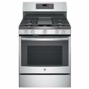 30'' GE gas range, TrueTemp convection oven, stainless