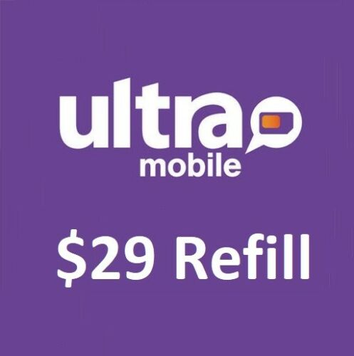 Ultra Mobile $29 Refill -- Unlimited Call/Text,5GB 4G LTE Data.Loaded Directly