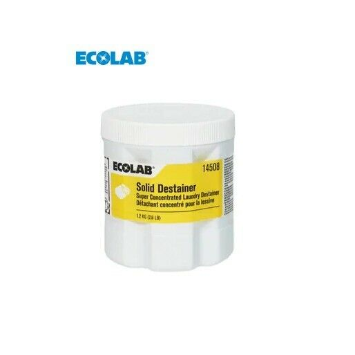 Eco Lab 6114508 2.6 lb. Solid Laundry Destainer (Case of 2)